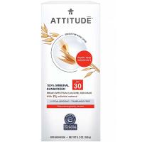 ATTITUDE 100% minerálny opaľovací krém SPF 30 pre citlivú a atopickú pokožku bez vône 150 g