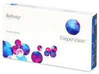 COOPERVISION Biofinity 6 šošoviek, Počet dioptrií: -4,5, Počet ks: 6 ks, Priemer: 14,0, Zakrivenie: 8,6