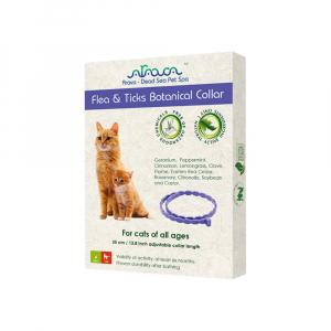 ARAVA Antiparazitný bylinný obojok Blchy a Kliešte pre mačky 35 cm