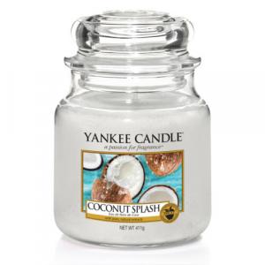 YANKEE CANDLE Classic stredná Sviečka Coconut Splash 411 g