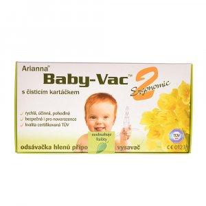 Baby-Vac 2 Ergonomic Arianna odsávačka s čistiacou kefkou
