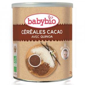 BABYBIO nemliečna rýžovoquinoová kaša s kakaom 220 g