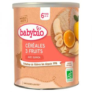 BABYBIO nemliečna rýžovoquinoová kaša s ovocím 220 g