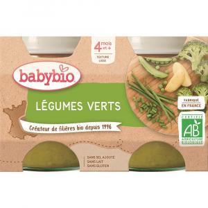 BABYBIO zeleninový príkrm zelená zelenina 2x130 g