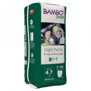 BAMBO Dreamy Night Pants 4 až 7 rokov Boy 15-35 kg 10 ks