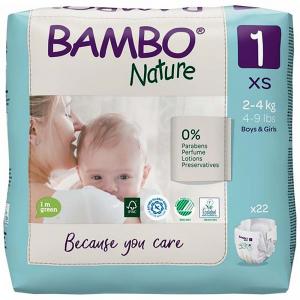 BAMBO Nature 1 Detské plienkové nohavičky 2-4 kg 22 ks