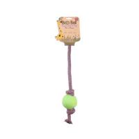 BECO Ball EKO lano s loptičkou pre psov - zelená S