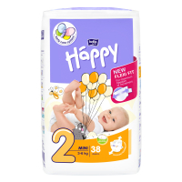 HAPPY Mini Plienky 3-6 kg 38 ks