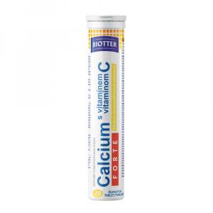 BIOTTER Calcium FORTE s vitamínom C citrón tablety 20 ks