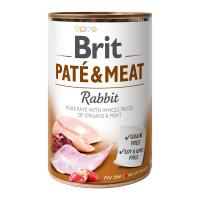 Brit PATÉ & MEAT Rabbit konzerva pre psov 400 g