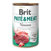Brit PATÉ & MEAT Venison konzerva pre psov 400 g