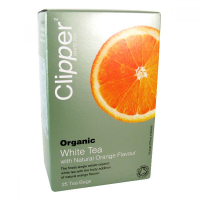 Čaj Clipper organic white tea + Orange 25x2g