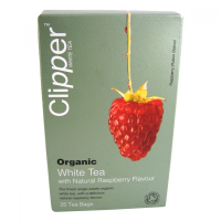 Čaj Clipper organic white tea + Raspberry 25 x 2 g