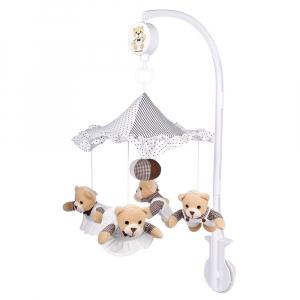 CANPOL BABIES Kolotoč plyšový Teddy bears