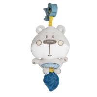 CANPOL BABIES Plyšová hracia skrinka PASTEL FRIENDS sivý medvedík