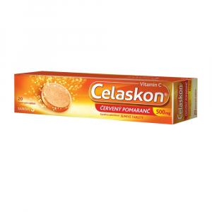 CELASKON 500 mg červený pomaranč 20 šumivých tabliet
