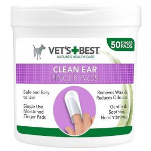 VET´S BEST Čistiaca utierka na uši pre psov 50 ks