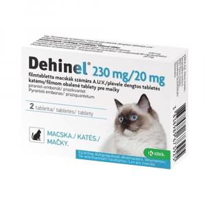 DEHINEL 230 mg/20 mg pre mačky 2 tablety