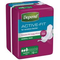 DEPEND Active-Fit normal inkontinenčné vložky 3 kvapky 12 kusov