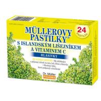 DR. MÜLLER Müllerovy pastilky s islandským lišajníkom a vitamínom C 24 pastiliek