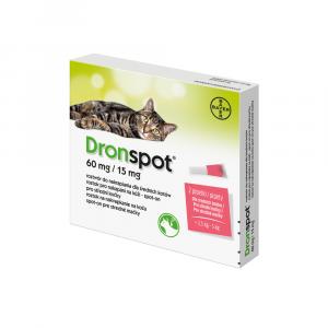 DRONSPOT 60 mg/15 mg spot-on pre stredné mačky 2x0,75 ml