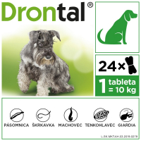 DRONTAL Dog Flavour 150/144/50 mg 24 tabliet