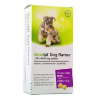 DRONTAL Dog Flavour 150/144/50 mg tablety tbl 1x2 ks