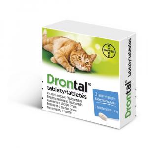 DRONTAL tablety pre mačky 2 tablety
