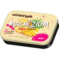 ENERGIT Magnézium príchuť ananás 42 tabliet