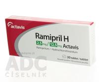 RAMIPRIL H 2,5 mg/12,5 mg ACTAVIS tbl 1x30 ks