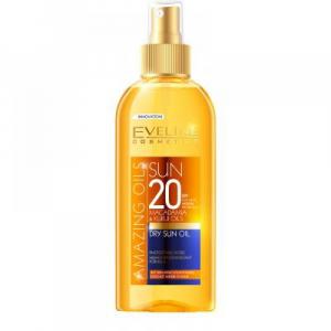 EVELINE Amazing Oils opaľovací olej SPF 20 150 ml