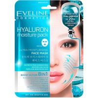 EVELINE Hyaluron Ultra hydratačná pleťová textilná maska 20 ml