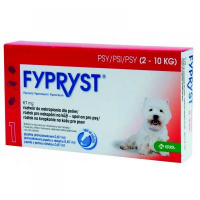 FYPRYST 67 mg PSY 2-10 kg roztok na kvapkanie na kožu pre psov (pipeta) 1x0,67 ml