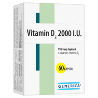 GENERICA Vitamín D3 2000 I.U. 60 kapsúl