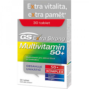GS Extra Strong pre vek 50+ Multivitamin 30 tabliet
