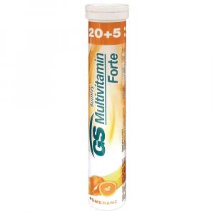 GS Forte Multivitamín Pomaranč 20+5 šumivých tabliet