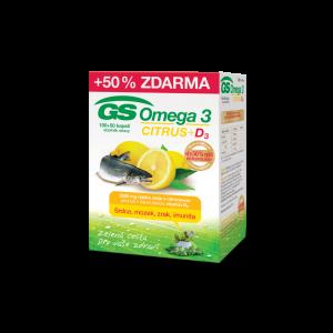 GS Omega 3 Citrus + D3 100+50 kapsúl
