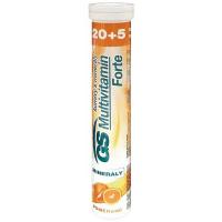 GS Multivitamín forte šumivý s minerálmi pomaranč 25 tabliet