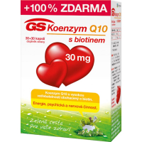 GS Koenzým Q10 30 mg 30+30 kapsúl ZADARMO