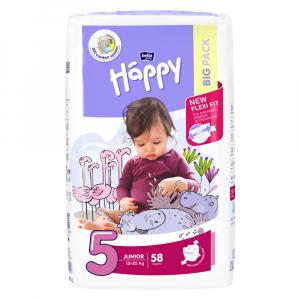 HAPPY Junior Big Pack  detské plienky 58 ks