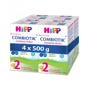 HiPP 2 BIO Combiotik Pokračovacie dojčenské mlieko od 6 - 12 mesiacov 4x 500 g