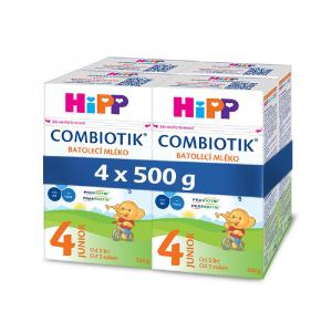 HiPP 4 JUNIOR Combiotik Pokračovacie batoľacie mlieko od 2 rokov 4 x 500 g