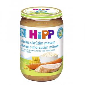 HiPP BIO Zelenina s morčacím mäsom 220 g