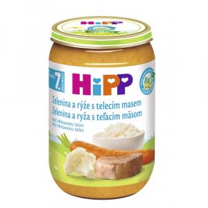 HIPP Junior Zelenina s ryžou a teľacím mäsom BIO 220 g