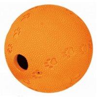 Hračka pes Lopta s otvorom na krmivo 9cm