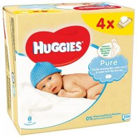 Huggies wipes quad (4x56) pure