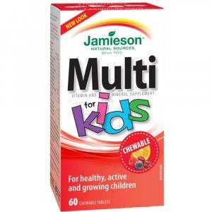 JAMIESON Kids Multivitamin cmúľací 60 tabliet