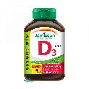 JAMIESON Vitamín D3 1000 IU 200+40 tabliet ZADARMO