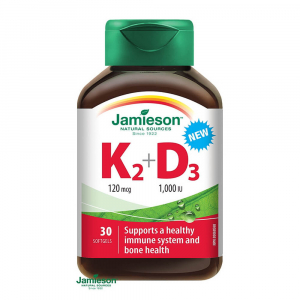 JAMIESON VITAMÍNY K2 120 µg + D3 1000 IU cps 1x30 ks