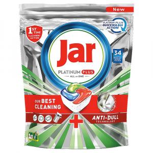 JAR Tablety do umývačky Platinum Plus All in 1 QuickWash 34 ks
